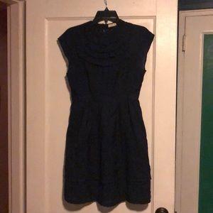 Navy Blue Tulle Dress